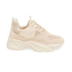 Steve Madden Beige Suede & Leather Sneakers